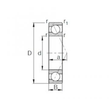 CYSD 7324B angular contact ball bearings